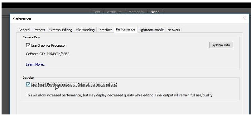 Lightroom - aprovechar previsualizaciones inteligentes en Revelado.smart-pre